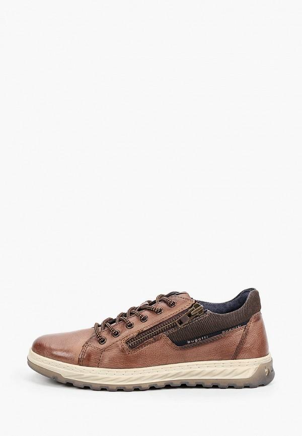мужские низкие ботинки bugatti, коричневые
