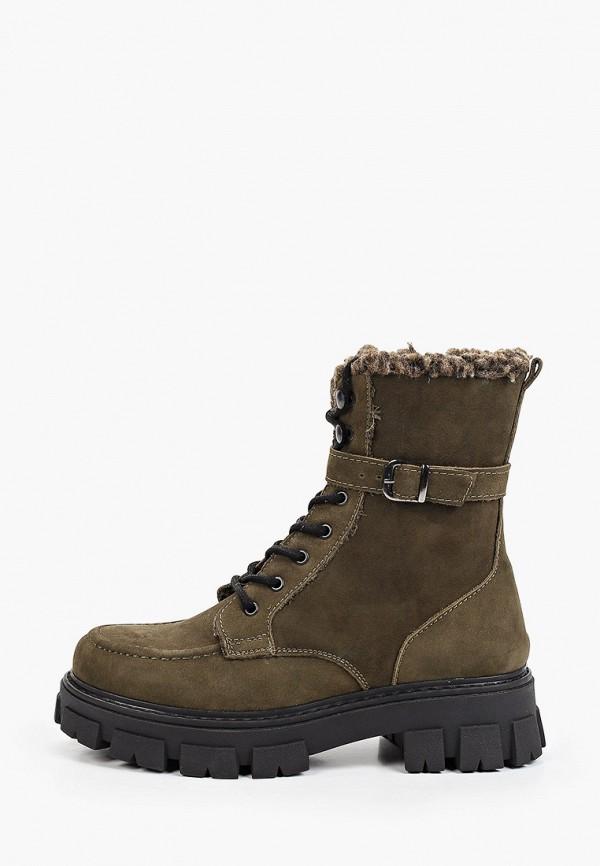женские высокие ботинки d.moro, хаки