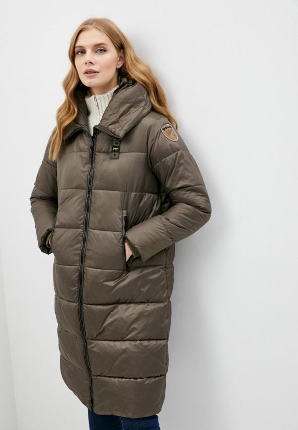 женская утепленные куртка blauer usa, коричневая