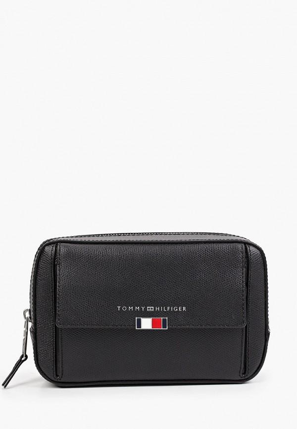 мужская поясные сумка tommy hilfiger, черная
