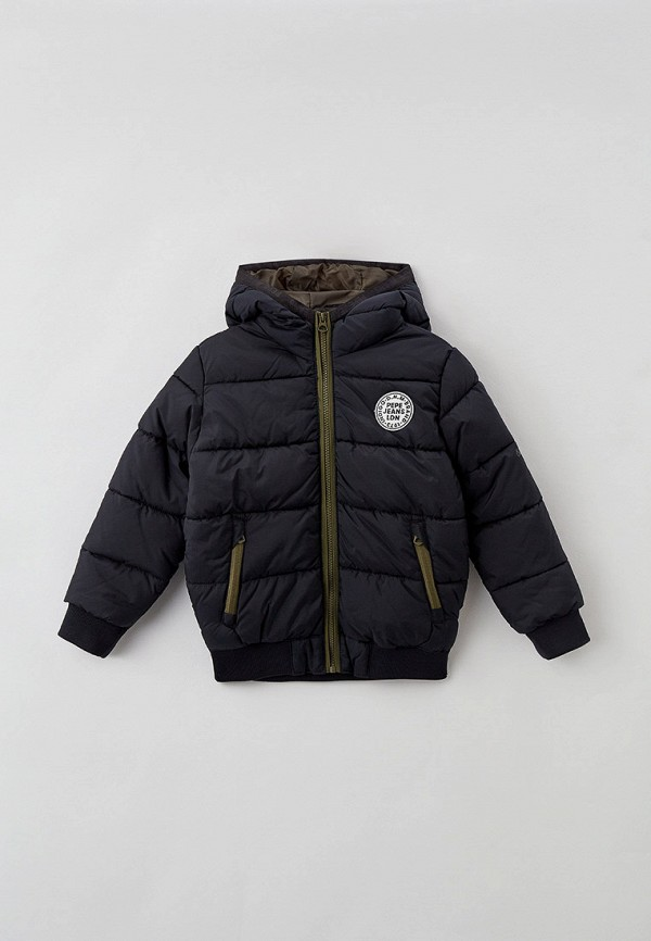 утепленные куртка pepe jeans london для мальчика, черная