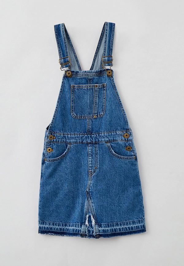 сарафан pepe jeans london для девочки, голубой