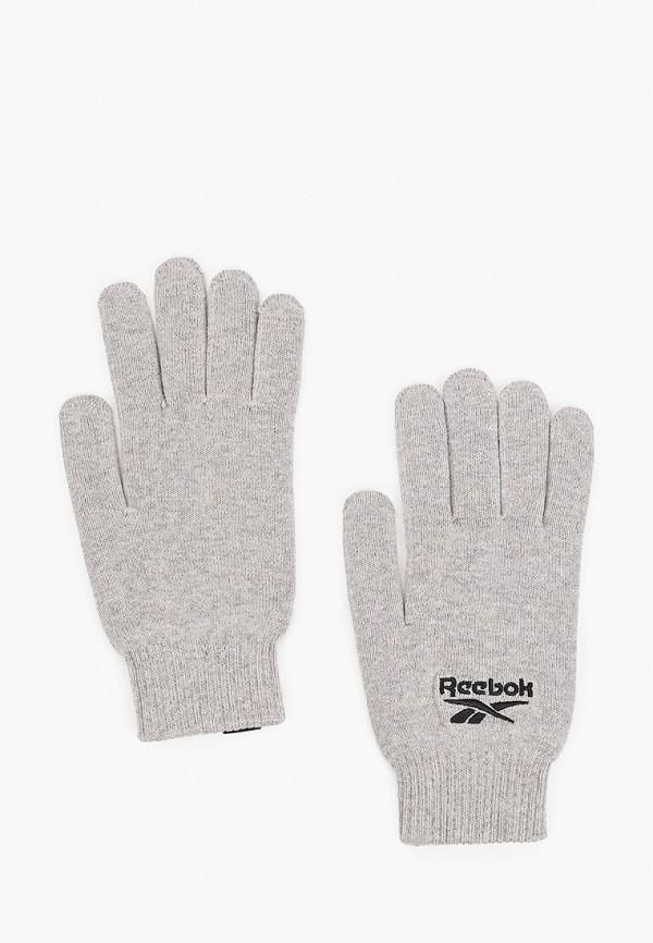 Перчатки Reebok серого цвета