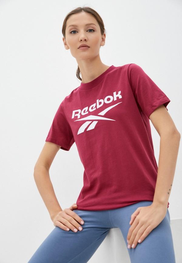 Футболка Reebok бордового цвета