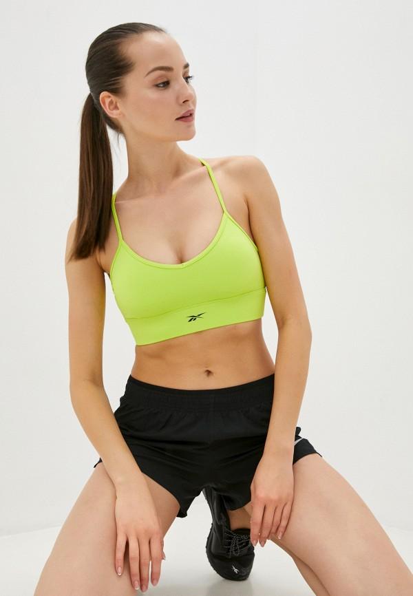 Топ спортивный Reebok зеленого цвета