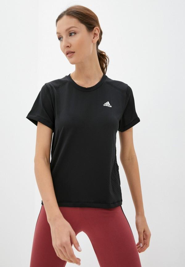 Футболка спортивная adidas черного цвета
