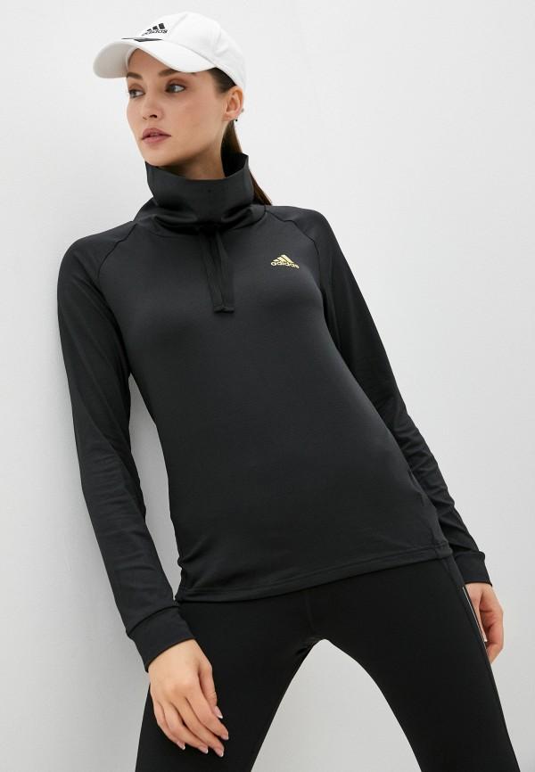 Лонгслив спортивный adidas черного цвета