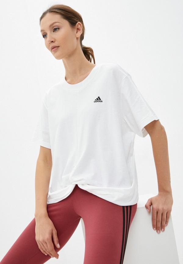 Футболка adidas белого цвета