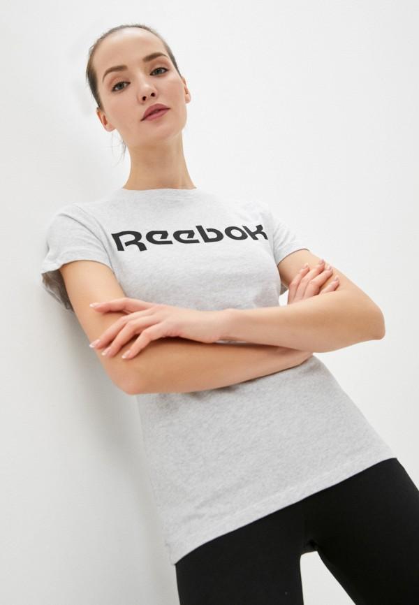 Футболка Reebok серого цвета