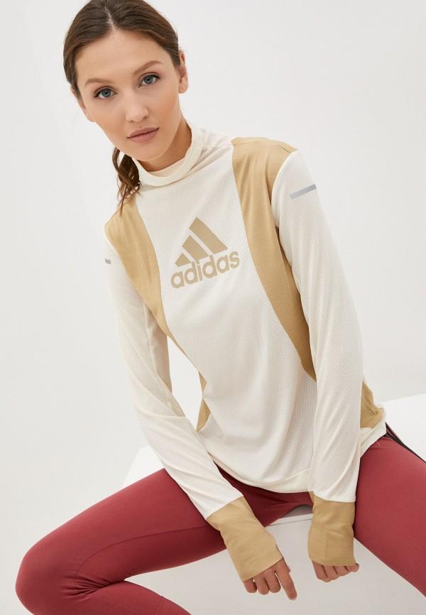 Олимпийка adidas бежевого цвета