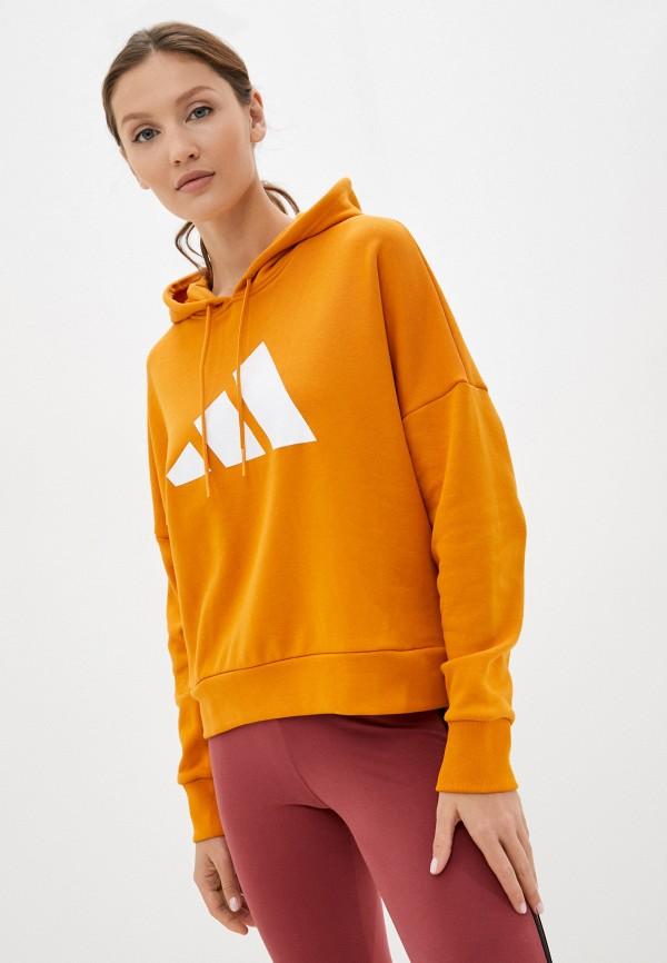 Худи adidas желтого цвета