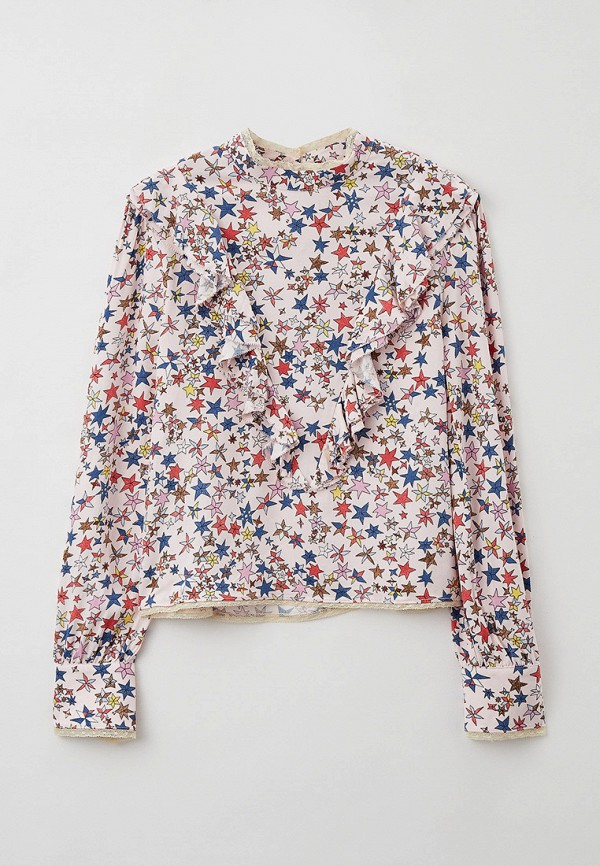блузка zadig & voltaire для девочки, розовая