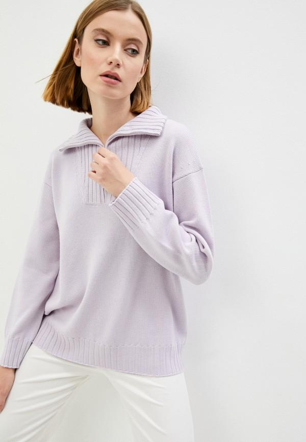 женский джемпер max mara leisure, фиолетовый