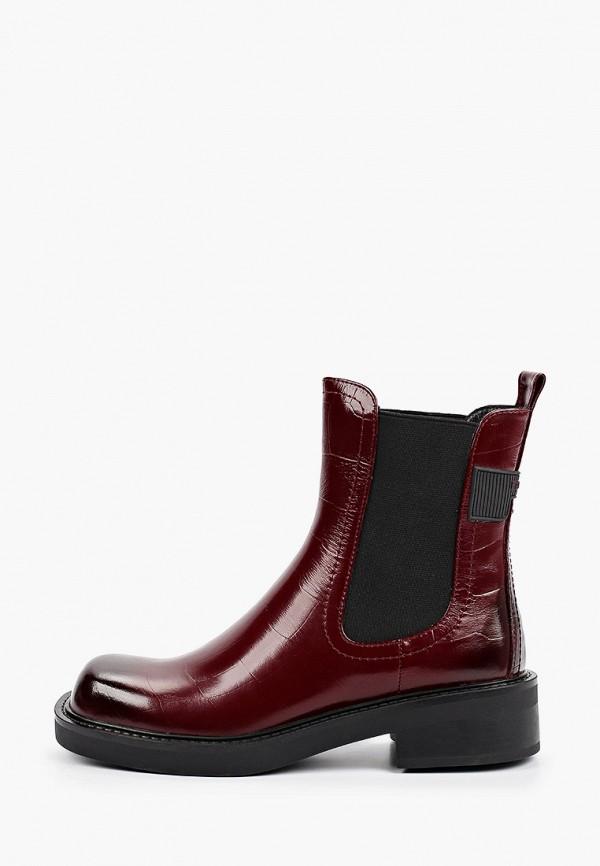 женские ботинки-челси covani, бордовые