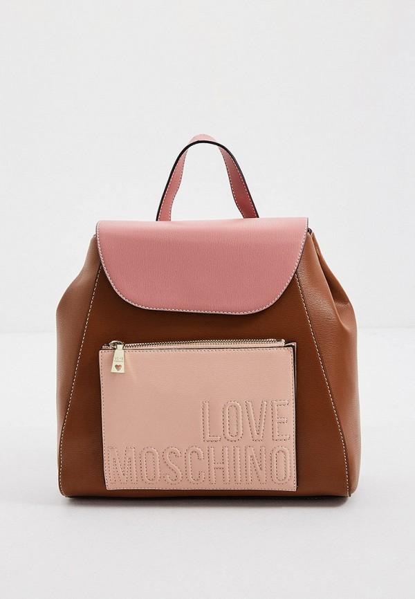женский рюкзак love moschino, разноцветный
