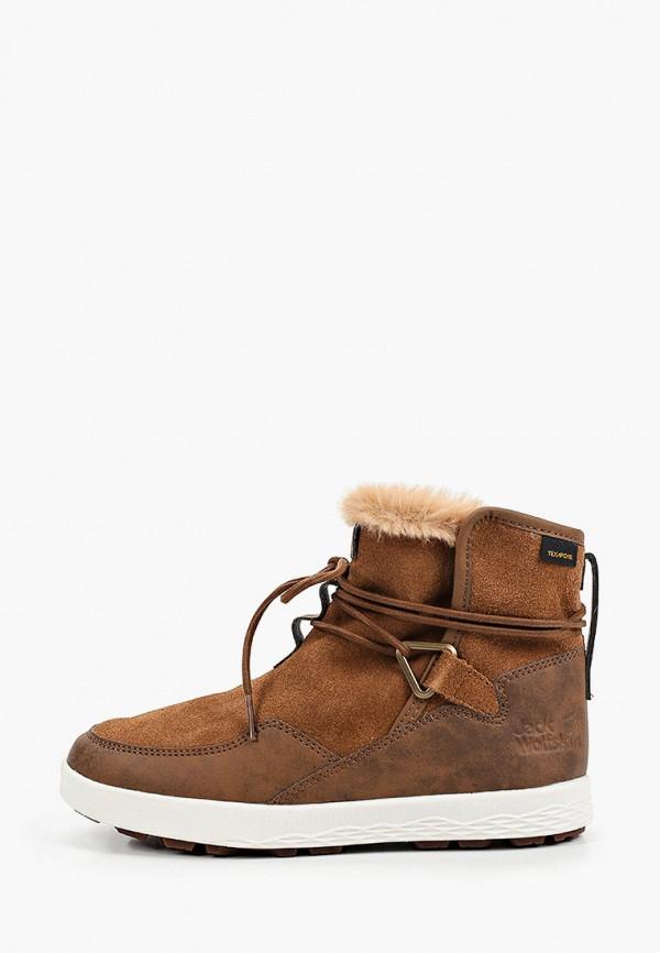 женские высокие ботинки jack wolfskin, коричневые