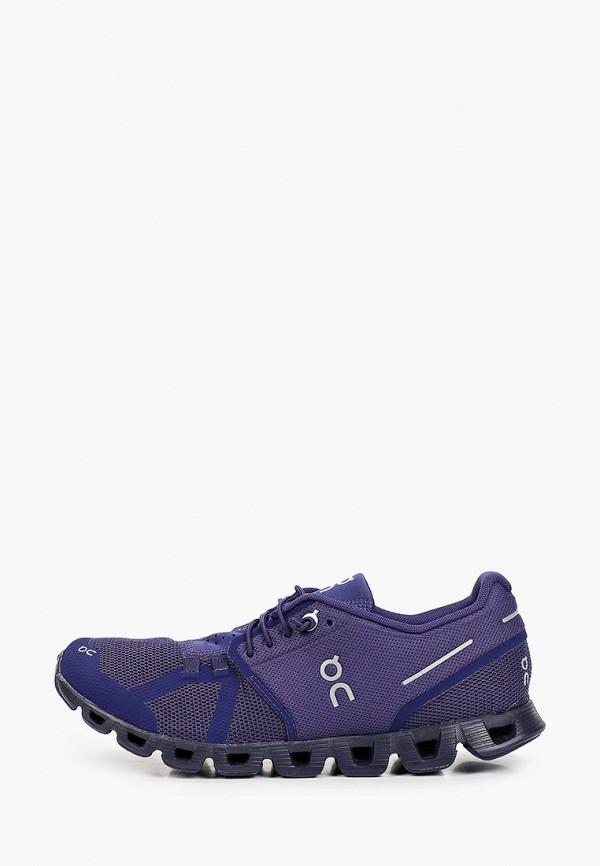 женские низкие кроссовки on, фиолетовые