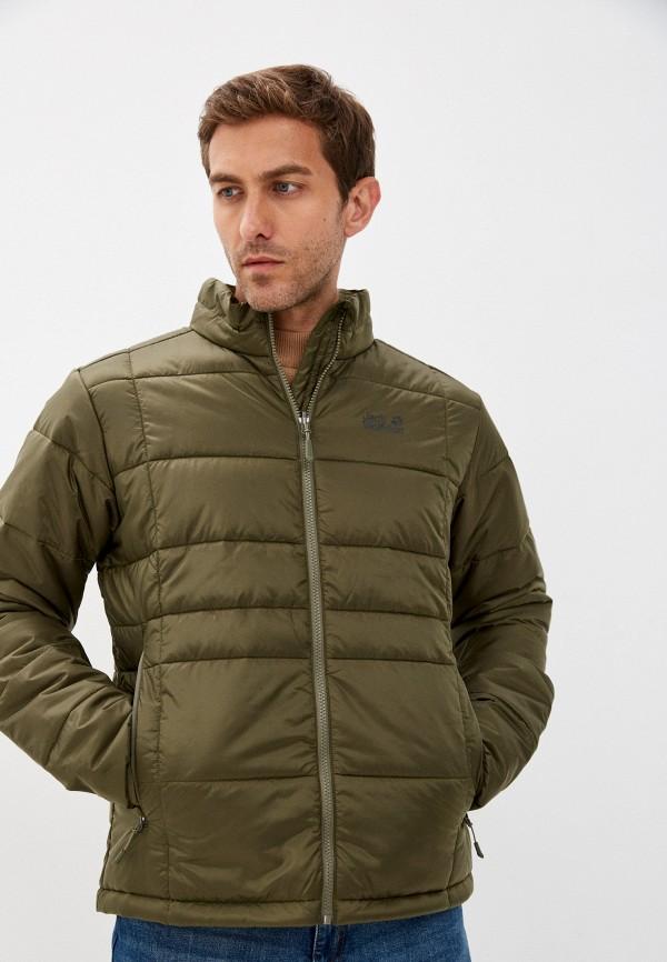 мужская спортивные куртка jack wolfskin, зеленая