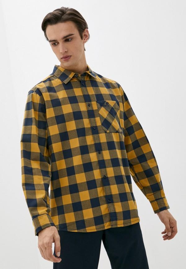 мужская рубашка с длинным рукавом jack wolfskin, разноцветная