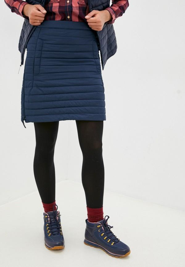 женская прямые юбка jack wolfskin, синяя