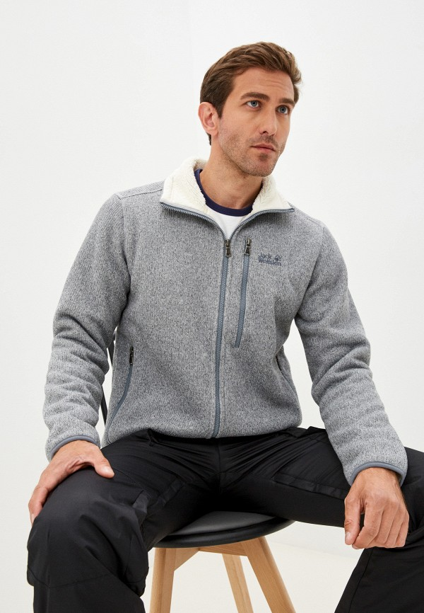 мужская спортивные куртка jack wolfskin, серая