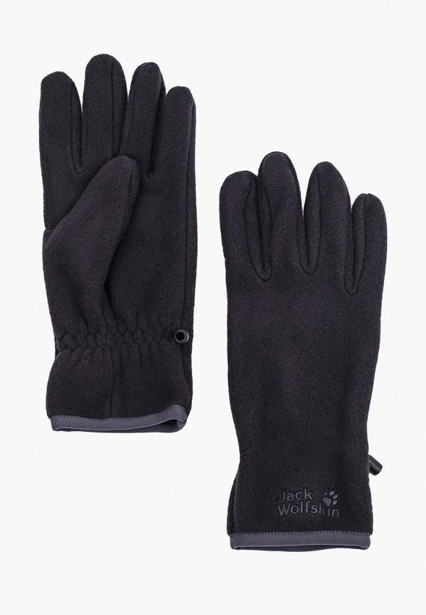 женские текстильные перчатки jack wolfskin, черные