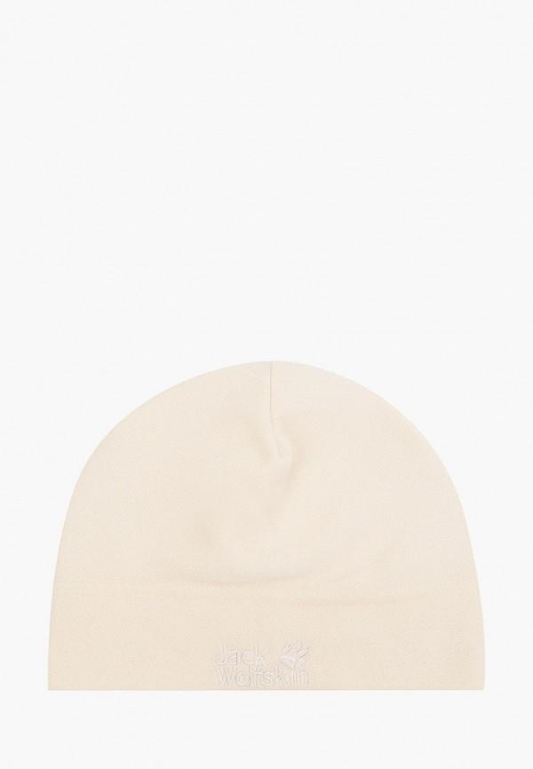 женская шапка jack wolfskin, бежевая