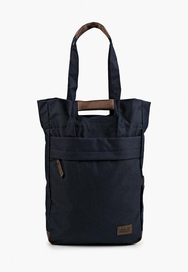 женская спортивные сумка jack wolfskin, синяя