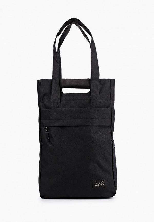 женская спортивные сумка jack wolfskin, черная