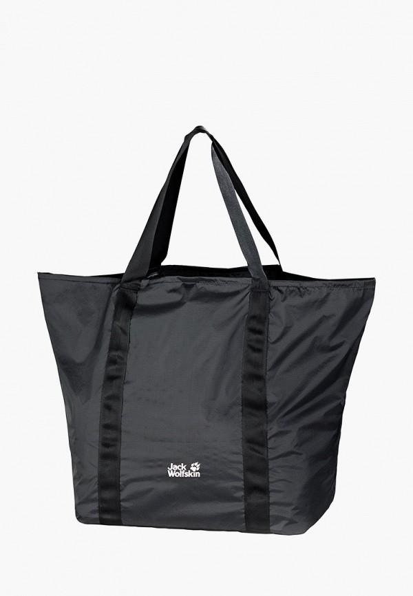 женская сумка-шоперы jack wolfskin, черная