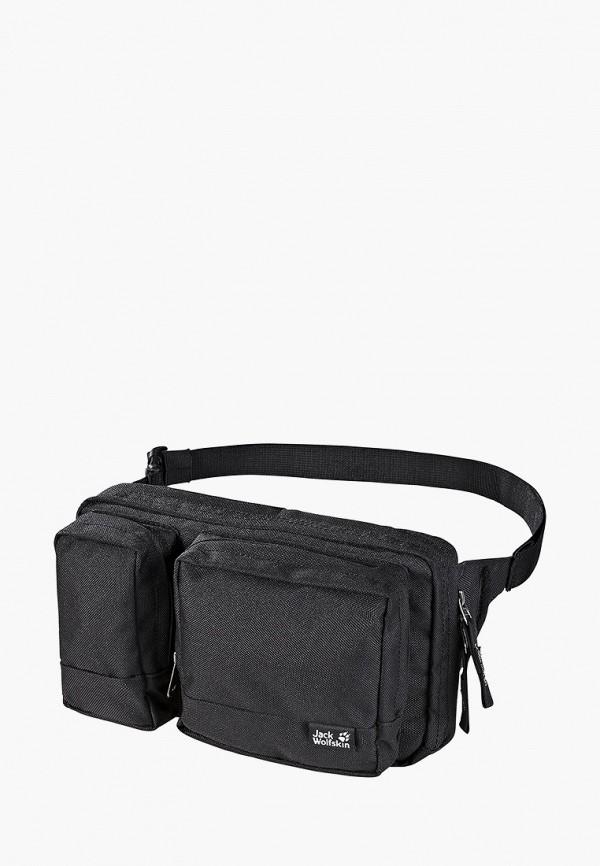 женская поясные сумка jack wolfskin, черная
