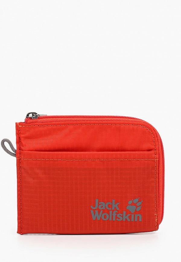 женский кошелёк jack wolfskin, красный