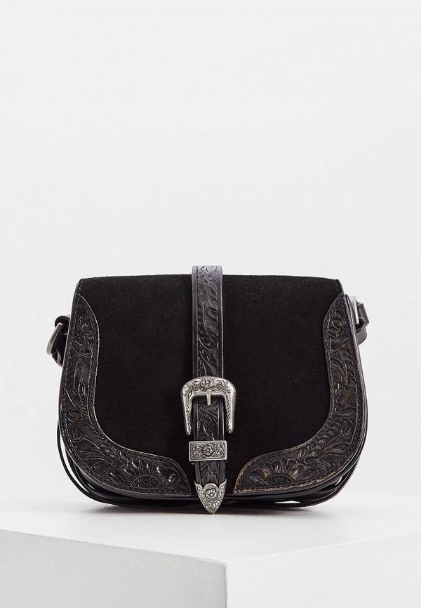 женская сумка через плечо polo ralph lauren, черная