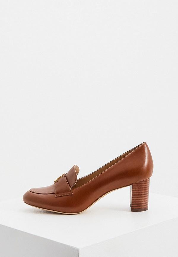 женские туфли с закрытым носом lauren ralph lauren, коричневые