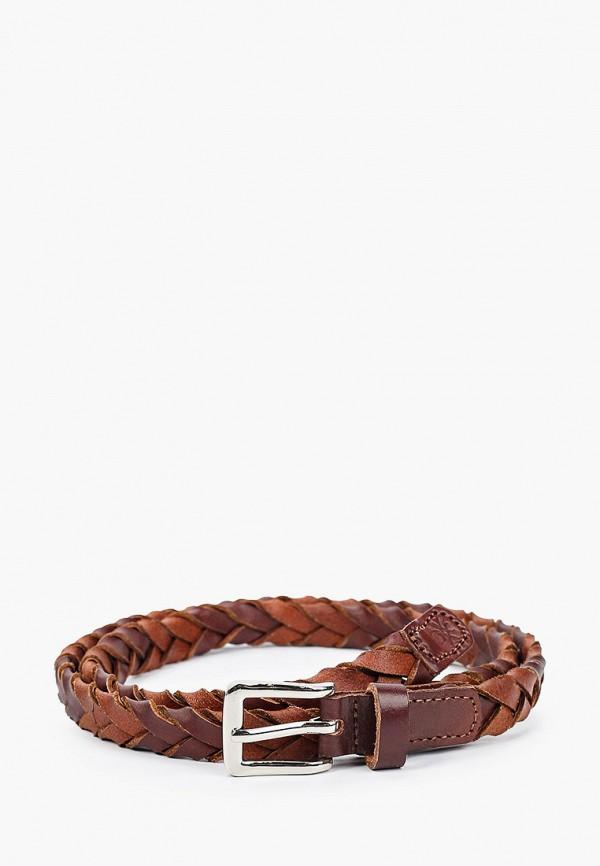 женский ремень united colors of benetton, коричневый