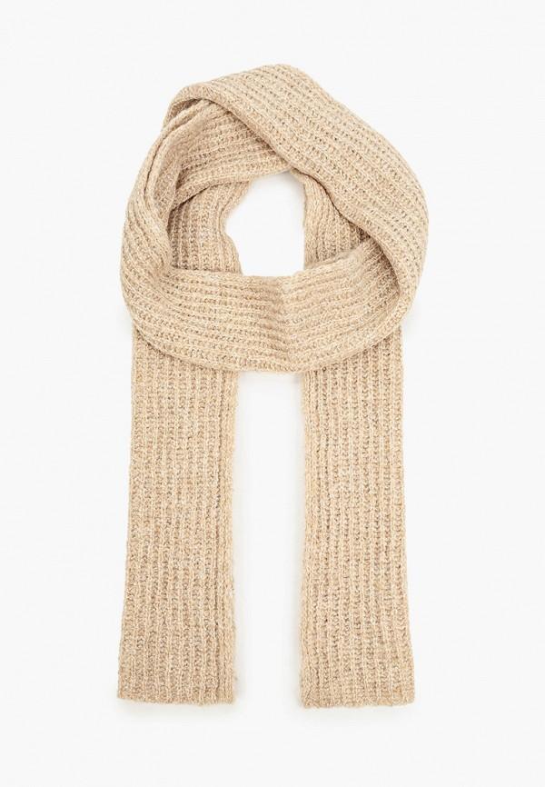 женский шарф united colors of benetton, бежевый