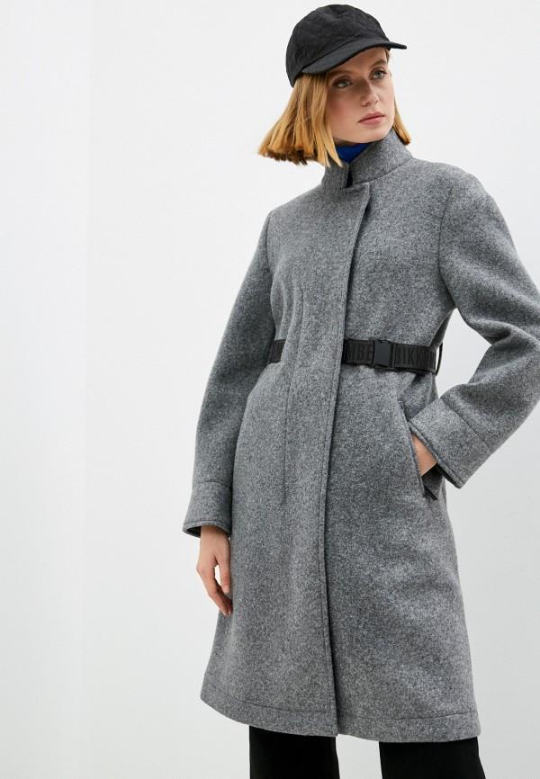 женское пальто bikkembergs, серое