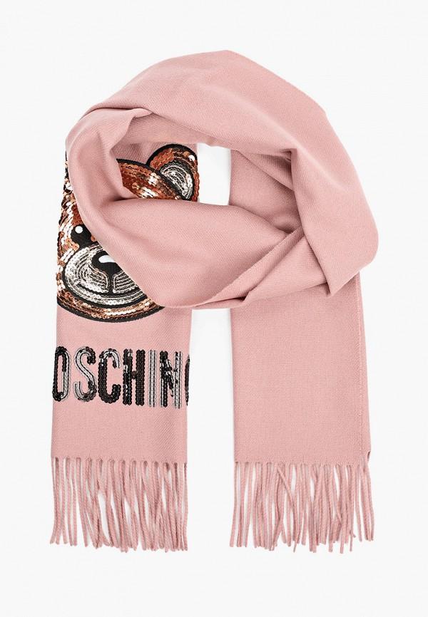 женский шарф moschino, розовый