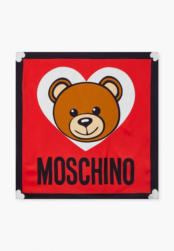 женский платок moschino, красный