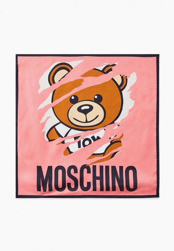 женский платок moschino, розовый
