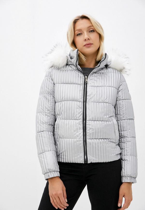 женская утепленные куртка lakressi, серебряная
