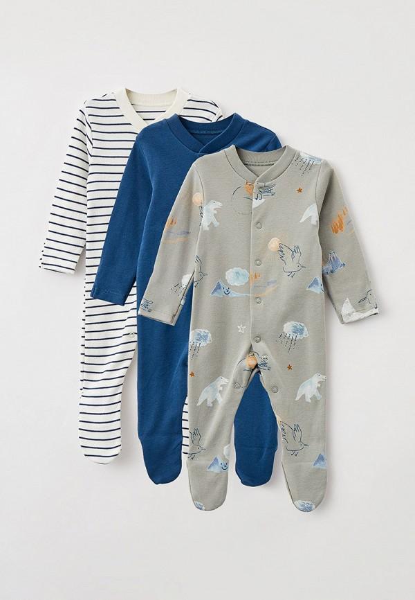 комбинезон с брюками marks & spencer малыши, разноцветный
