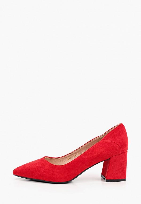 женские туфли с закрытым носом diora.rim, красные