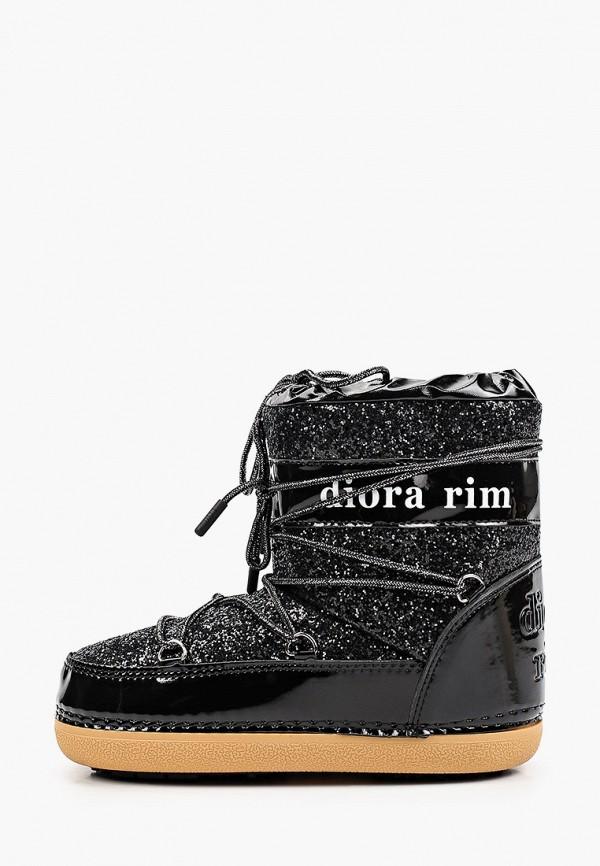 женские луноходы diora.rim, черные