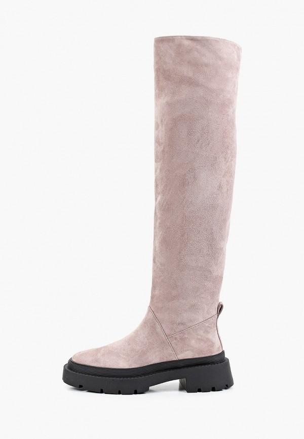 женские ботфорты corso como, розовые