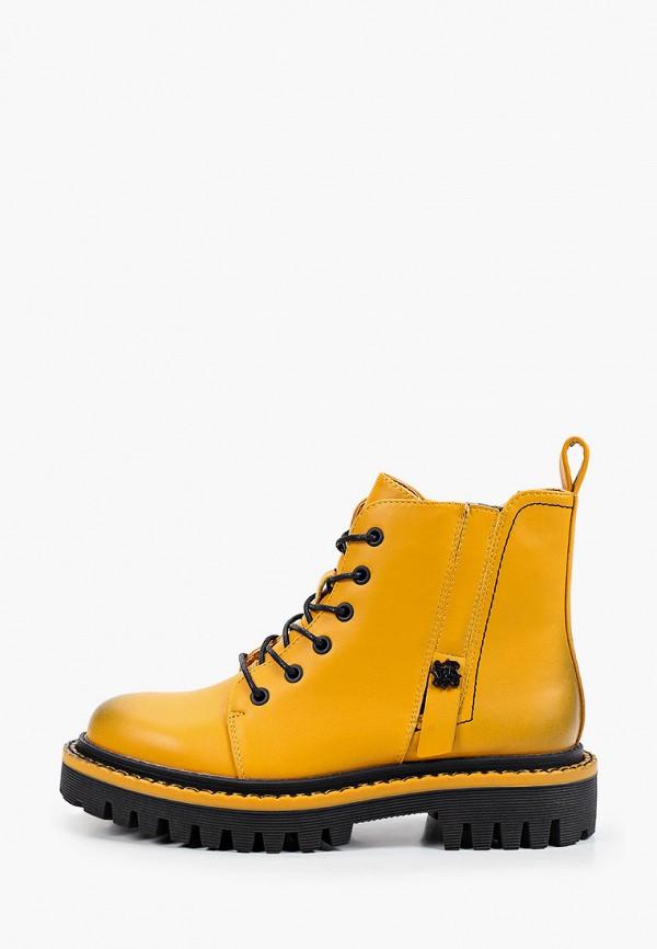 женские высокие ботинки respect, желтые