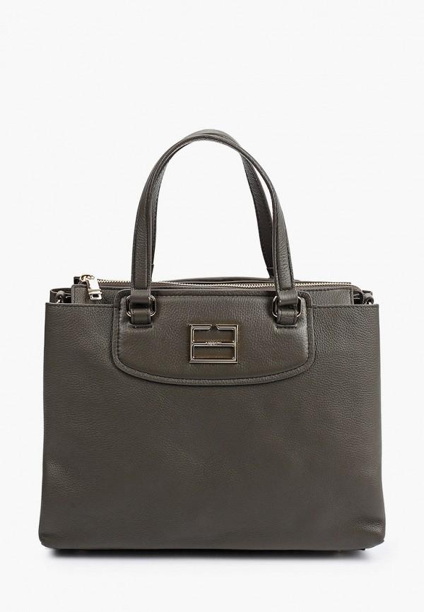 женская сумка с ручками fabretti, хаки