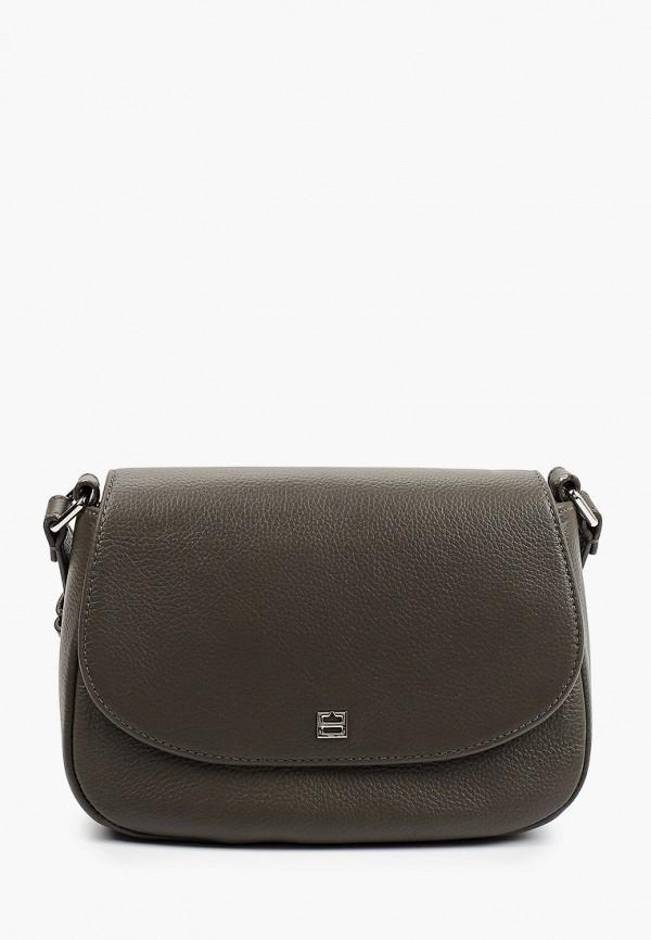 женская сумка через плечо fabretti, хаки