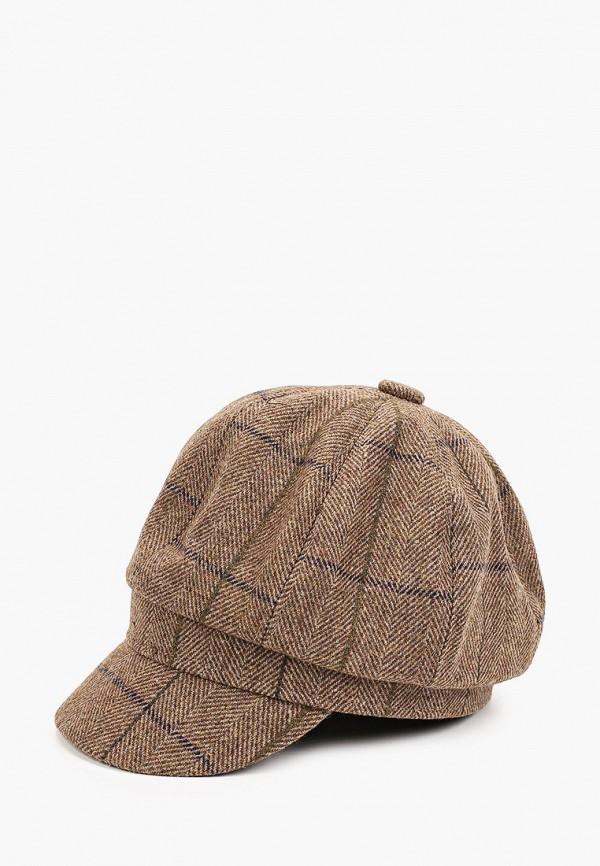 женская кепка fabretti, коричневая