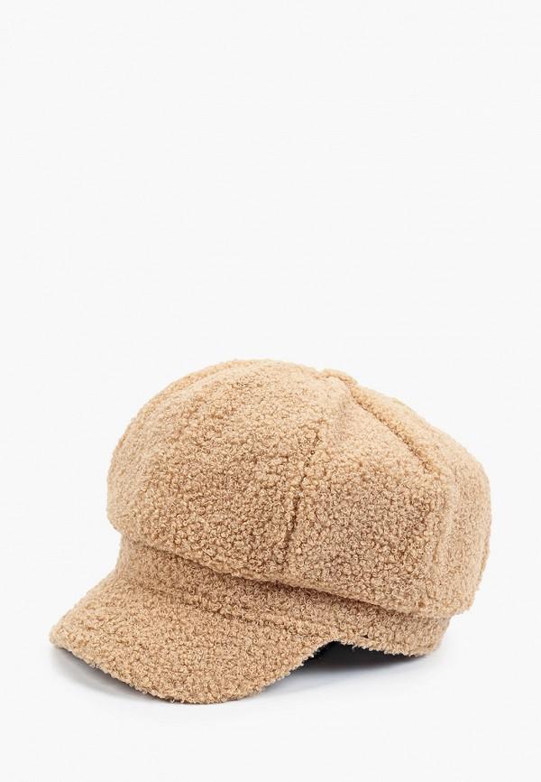женская кепка fabretti, бежевая